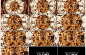 高清实拍视频素材丨钟表指针转动 时间流逝