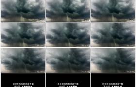 高清实拍视频素材丨强对流天气 天空中乌云涌动大雨滂沱电闪雷鸣