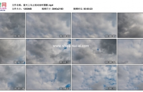4K实拍视频素材丨蓝天上乌云流动延时摄影