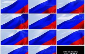 4K实拍视频素材丨俄罗斯国旗三色旗随风飘动
