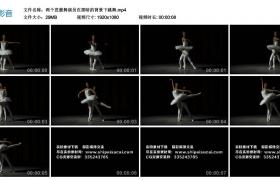高清实拍视频素材丨两个芭蕾舞演员在黑暗的背景下跳舞