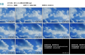 高清实拍视频丨蓝天上白云飘动延时摄影