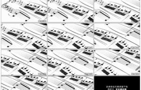 高清实拍视频素材丨摇摄音乐乐谱五线谱