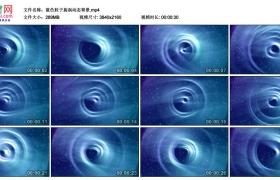 4K视频素材丨蓝色粒子旋涡动态背景