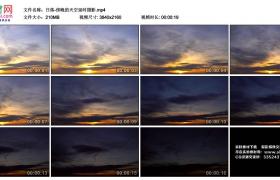 4K视频素材丨日落-傍晚的天空延时摄影