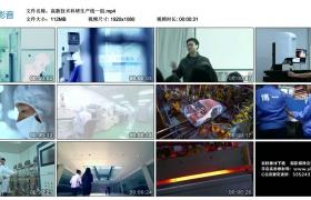 高清实拍视频丨高新技术科研生产线一组