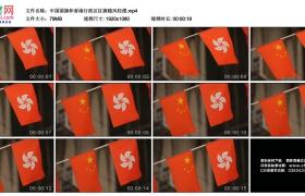 高清实拍视频素材丨中国国旗和香港特别行政区区旗随风轻摆