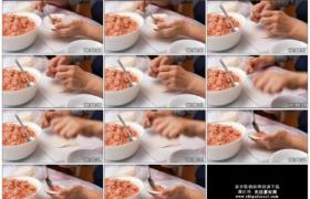 4K实拍视频素材丨特写手工包肉馅饺子