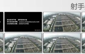 [高清实拍素材]污水处理厂全景