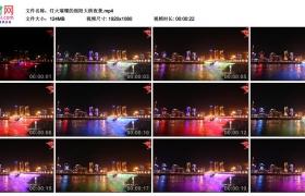 高清实拍视频素材丨灯火璀璨的绵阳大桥夜景