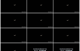 4K实拍视频素材丨漆黑的夜空中一轮弯弯的月亮缓缓落下延时摄影