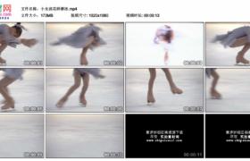 高清实拍视频素材丨小女孩花样滑冰