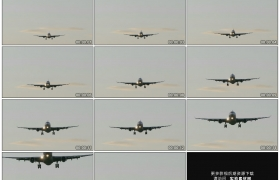高清实拍视频素材丨一架飞机从空中飞过