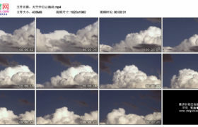 高清实拍视频素材丨晴朗的天空中白云涌动