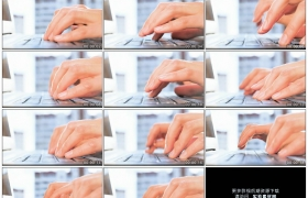 4K实拍视频素材丨特写双手手指敲击笔记本电脑键盘打字输入