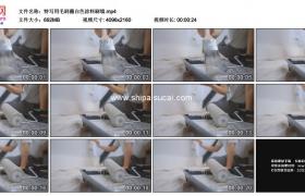 4K实拍视频素材丨特写用毛刷蘸白色涂料刷墙