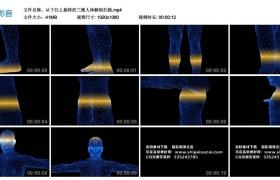 高清三维视频素材丨从下往上旋转的三维人体解剖扫描