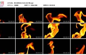 高清实拍视频素材丨黑色背景前红色的火焰升腾