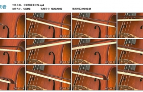 高清实拍视频素材丨大提琴演奏特写