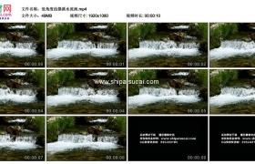 高清实拍视频素材丨低角度拍摄溪水流淌