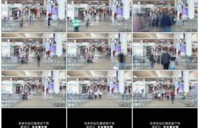 4K实拍视频素材丨中国机场里匆忙穿梭的乘客延时摄影