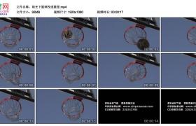 高清实拍视频素材丨阳光下篮球投进篮筐