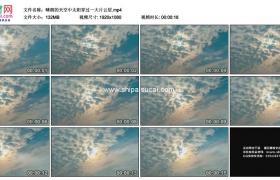 高清实拍视频素材丨晴朗的天空中太阳穿过一大片云层