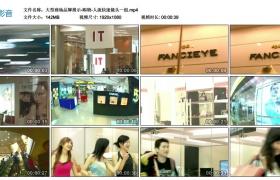 高清实拍视频丨大型商场品牌展示-购物-人流快速镜头一组