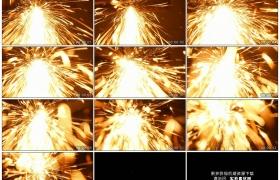 4K实拍视频素材丨特写切割金属火花四溅