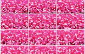 4K动态视频素材丨快乐情人节上升的心形动态背景